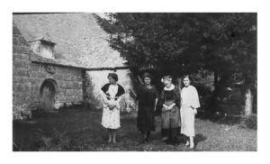 La chapelle de Trébalay en 1945